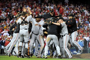 Giants surprise Phillies to win NLCS; next up, the Rangers in World Series