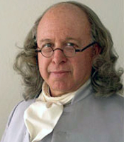 Benjamin Franklin plays the part in his visit to Academy