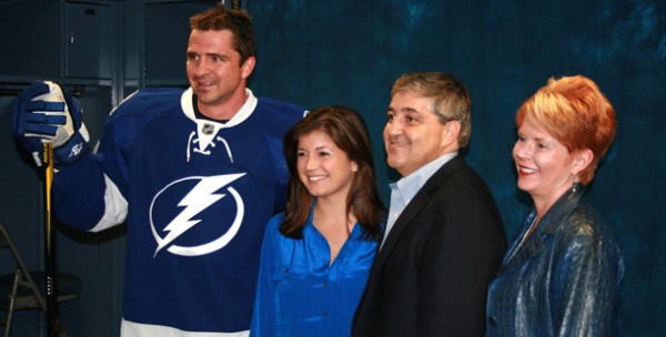 Sophia Baldor receives Tampa Bay Lightning HERO award