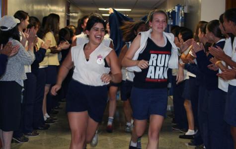 Seniors celebrate their last day of classes
