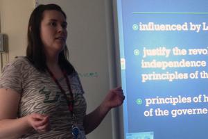 Ms. Weiss fills important classroom spots