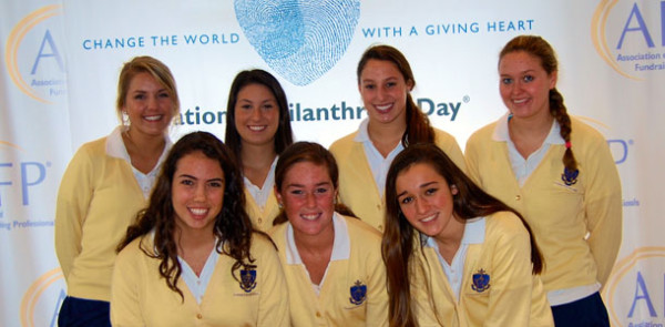 AHN swim and volleyball teams receive Youth in Philanthropy Award