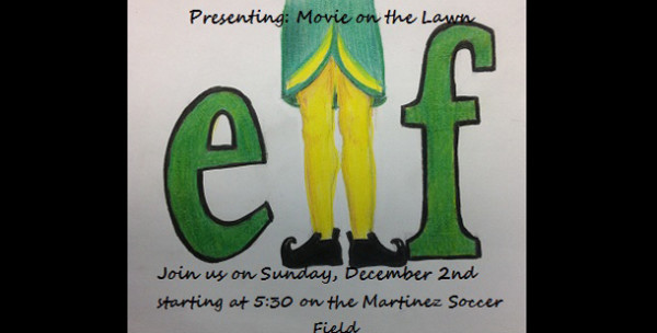Buddy+the+Elf+comes+to+AHN+for+annual+Movie+on+the+Lawn