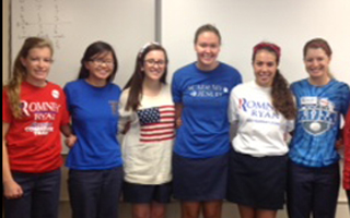 AHN girls vote Mitt Romney as winner of Rho Kappa mock Presidential election