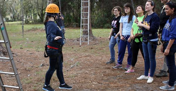 Juniors rise to challenges of 'High Elements' at retreat