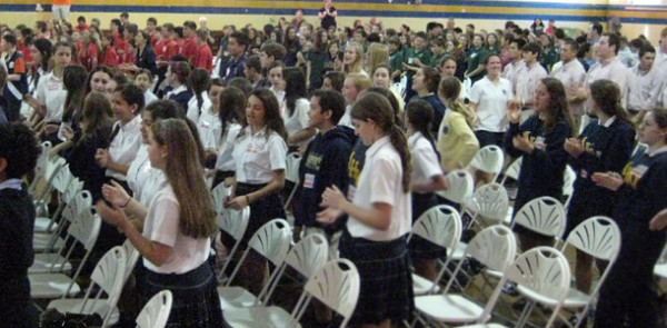 Twelve Academy students attend Salesian Pro-Life Youth Rally