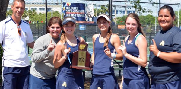 Tennis team recaptures district and region titles; Nasser and Lozo win firsts at Tennis Finals