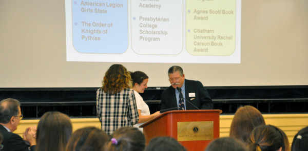 Scholarships and awards abound at Grades 9-11 Honors Convocation