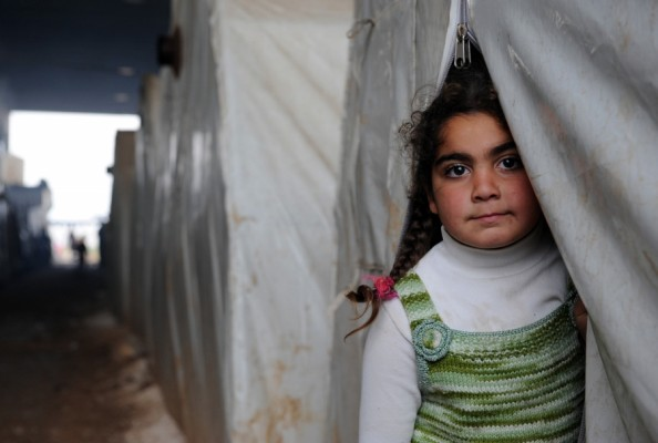 In places like Azaz camp, thousands of displaced Syrians have to make a home out of tents.