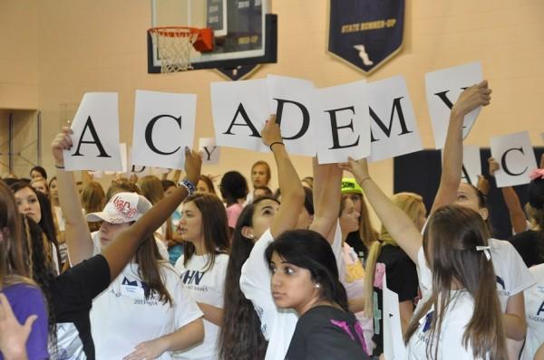 Academy+students+accomplish+spelling+one+of+the+Academy-related+words%2C+the+school+name.