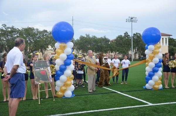 With the ceremonial cutting of the ribbon by Mayor Bob Buckhorn, the new field is ready for action.