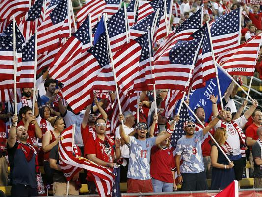 United States soccer fans cheer before the 2014 FIFA World Cup