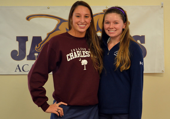 Clare Fleming and Emmy Martin will be attending College of Charleston and Texas Christian University