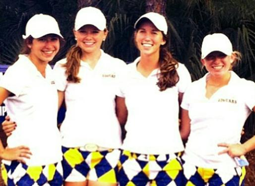 Mariah Diaz, Emmy Martin, Devin Lewis, Casey Pluchino at their last state tournament in their high school career.