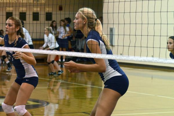 Junior+Courtney+Vogler+focuses+on+the+game+during+Academy%27s+volleyball+invitational.