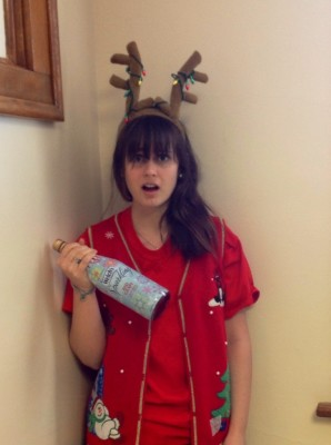 Clearly+not+following+my+own+advice+to+%22look+presentable%22%2C+with+my+antlers+and+sparkling+grape+juice.++