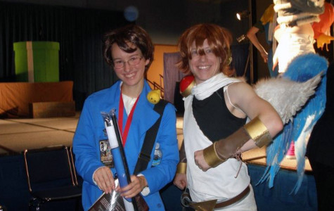 Shannon Neil and a fellow cosplayer as Austria (Roderich Edelstein) from the anime Axis Powers Hetalia, and Pit from the videogame Kid Icarus.