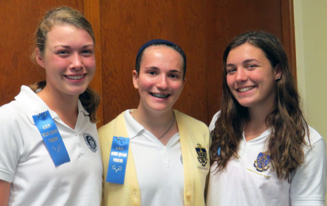 Award winners (from left to right) Abigail Morris, Sarah Telvin, Laney Rodriguez.