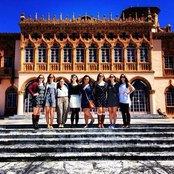 AP Art History students marvel at the Gothic-inspired home of John and Mabel Ringling.