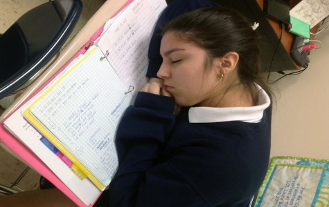 With heavy eyelids and strong headaches, students find it hard to keep themselves awake in first set.