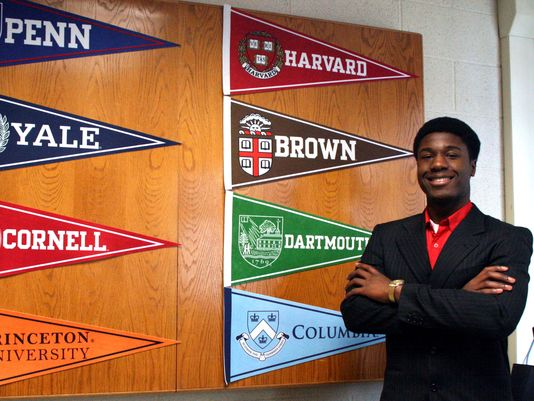Kwasi Enin has a tough decsion to make.  He was also admitted to Duke University and three New York State Universities.