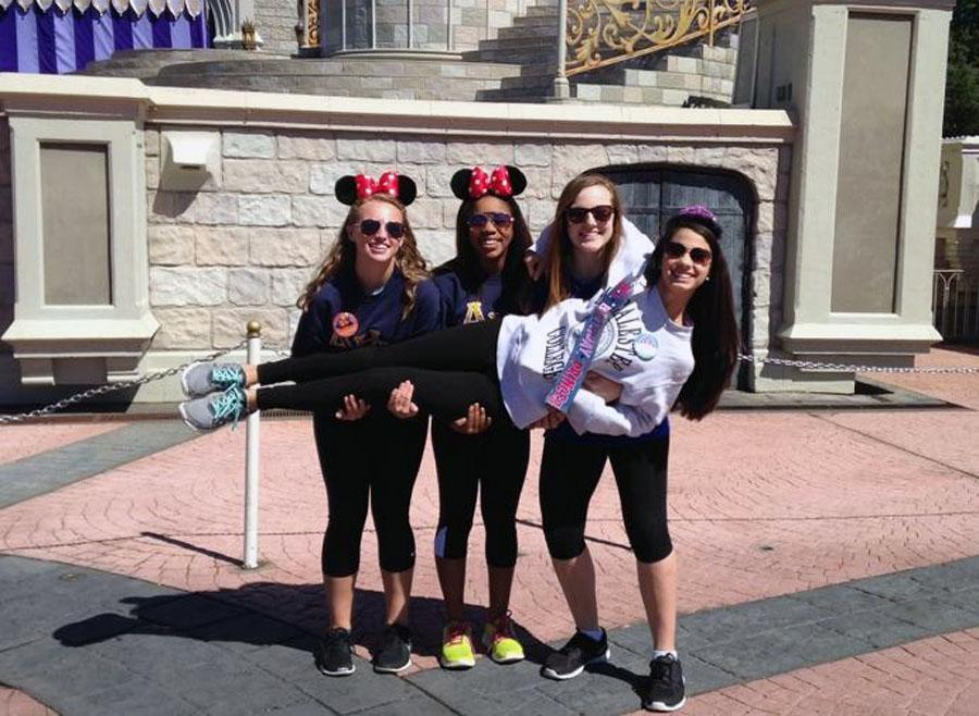 Academy sphomores Karlee Nipper, Rylee Johnson, Alex Perez and Veronica Sanchez, making most of their Mini Course Week at Epcot