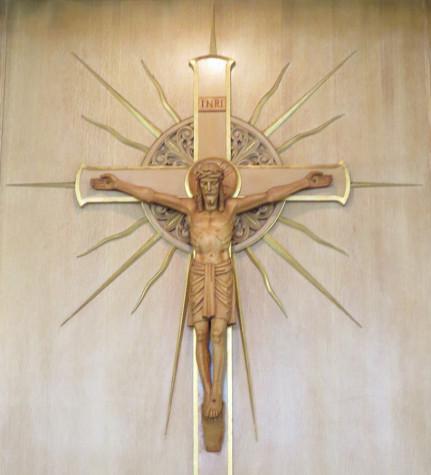 Crusifix represents Easter
