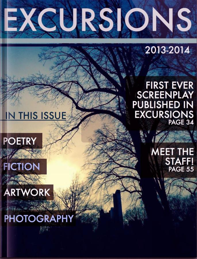 The cover of the 2013-2014 Excursions Literary Magazine