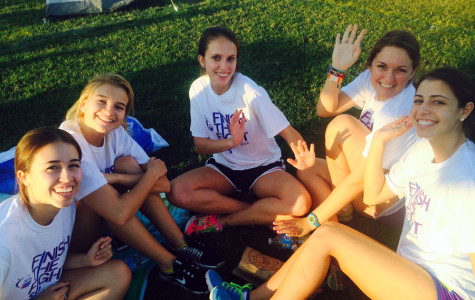TLC Seniors take a break during Relay for Life activities.