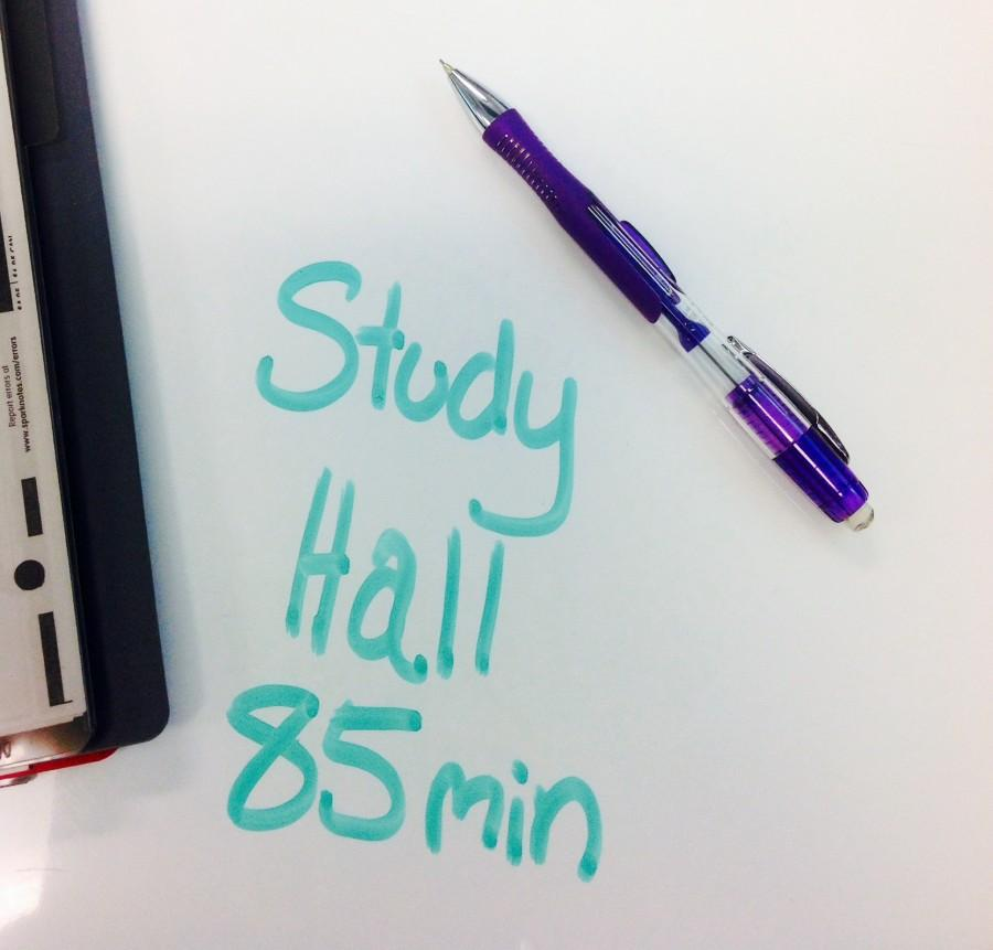 Before the block schedule, a student would have one study hall over the course of all four years at AHN. The girls would have to decide what year they would benefit most from having a study hall.