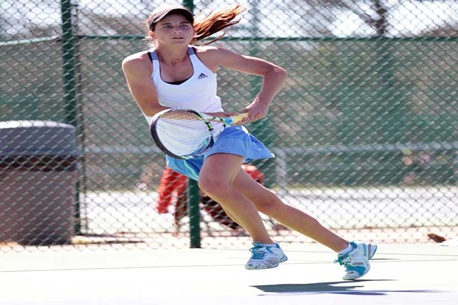 Daniela Nasser at one of her many tournaments.