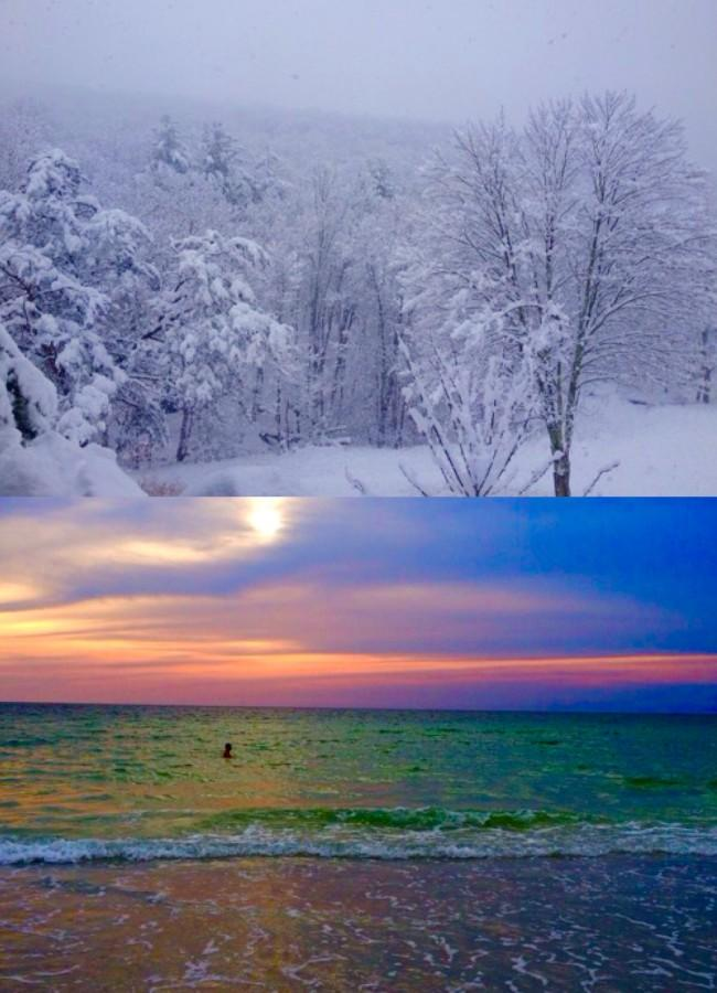 Winters in the North vs. the South