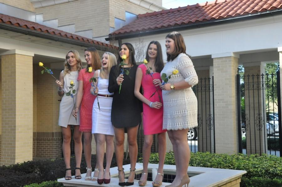 Academy juniors all looked stunning at the ring ceremony.
