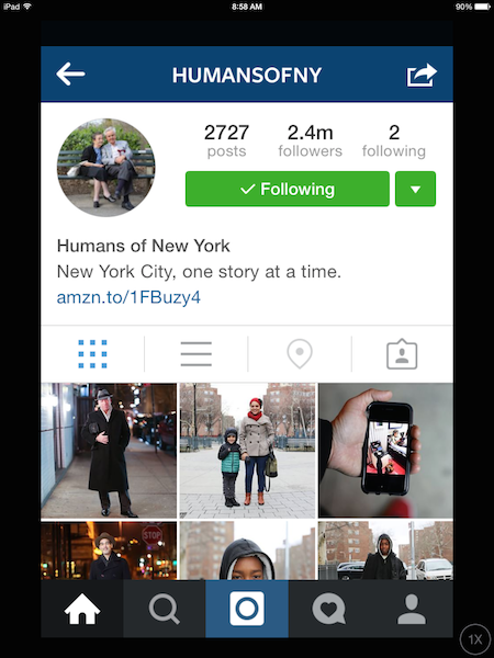 Humans of New York Instagram page