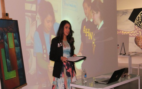 Sofia Sanchez sharing her story with Academy students and faculty.