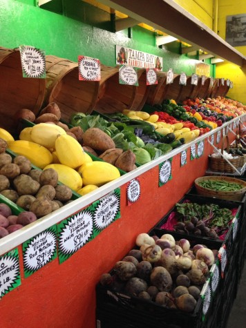 Eat local by shopping Farmers Markets!