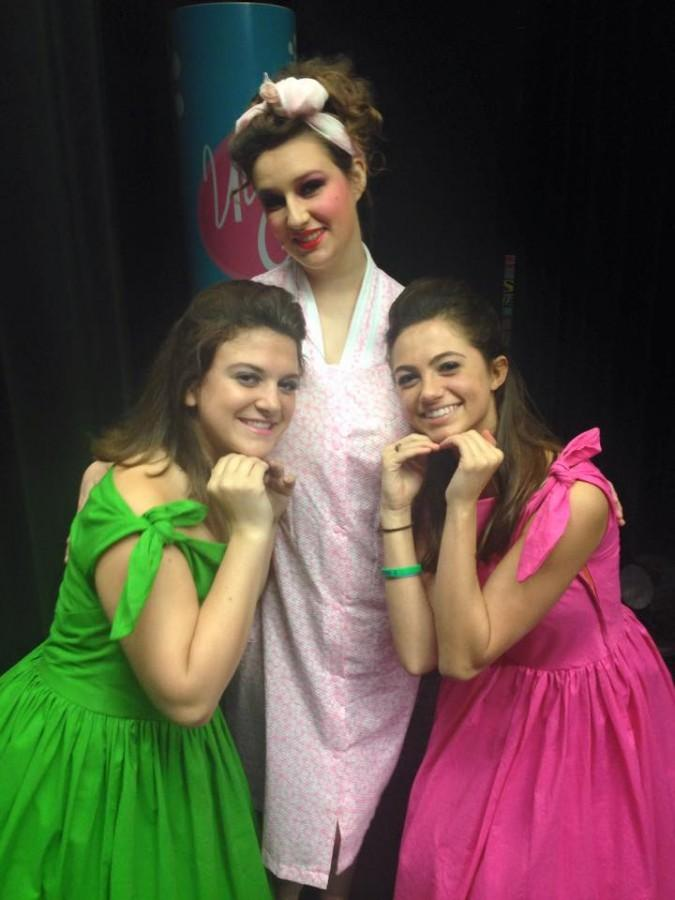 Edna Turnblad posing with her dancers!