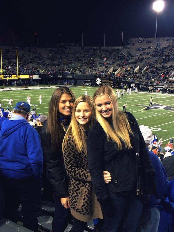 Courtney Farrior attends the Vanderbuilt vs. Florida game.