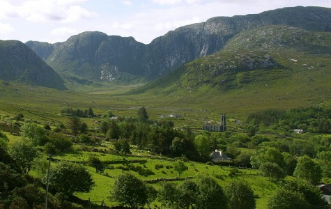 Dunlewy Mountains in Ireland