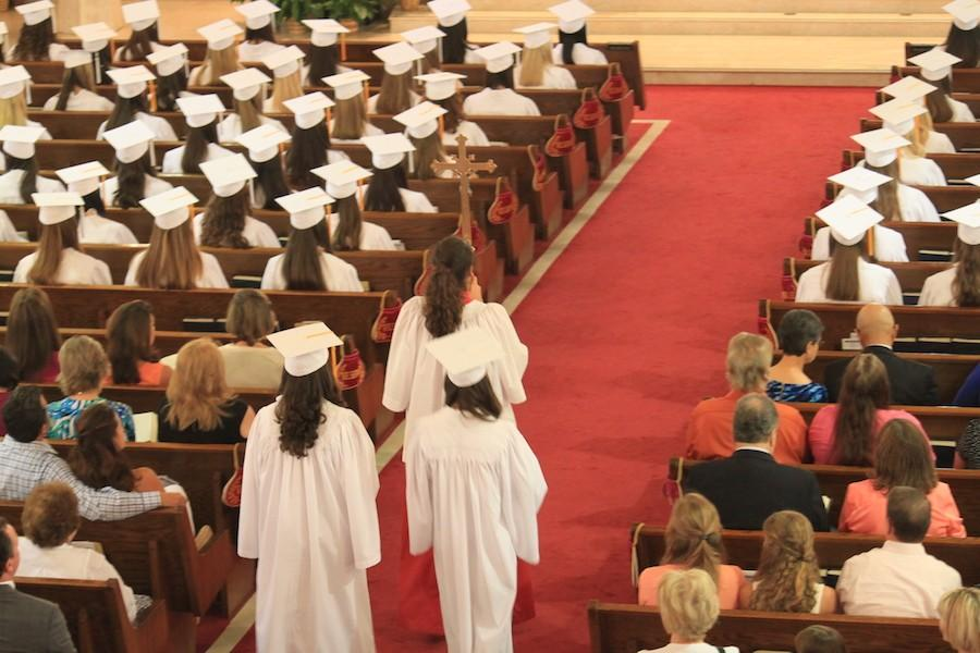 The Baccalaureate Mass takes place at Christ the King Church, the Sunday before Graduation.