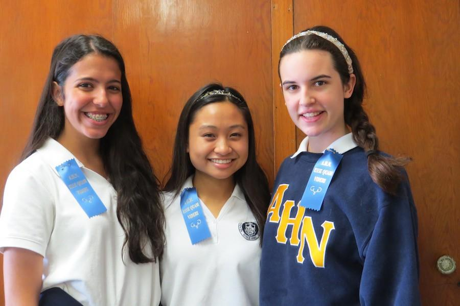 From left to right: Alex Smith, Gillian Garcia, and Lauren Pieper.