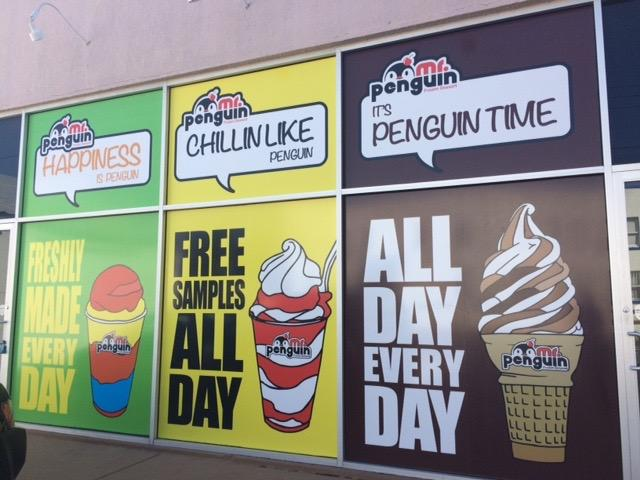 Mr. Penguin is a popular ice cream store and is also where a couple of Academy girls work.