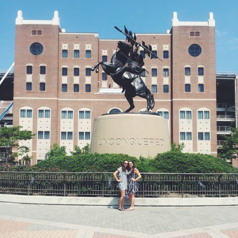 Caroline Swenson (senior) and Gretchen Swenson (sophomore) visited Florida State University over the summer. While they both said it was very hot when touring, they agreed the campus was beautiful!