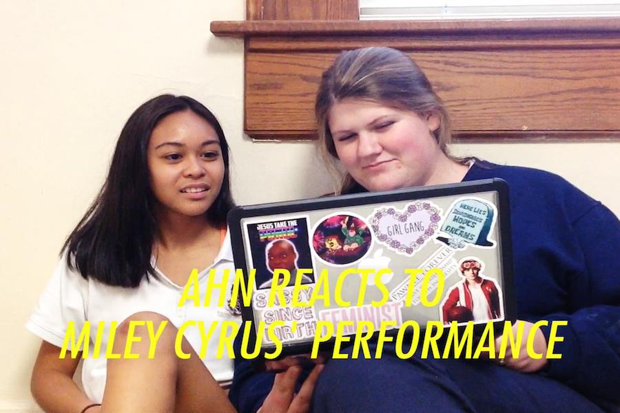 Seniors Miranda Plummer and Alexis Markines react to Miley Cyrus' 2015 VMA performance