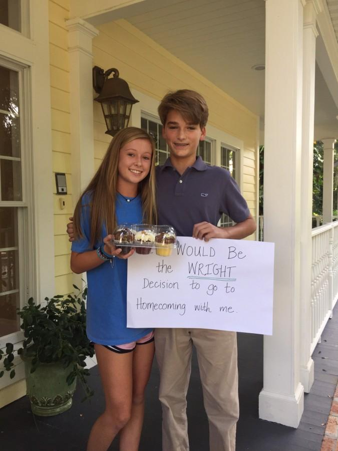 Blakely was so surprised when James Bencivenga showed up at her house with Wright's cupcakes to ask her to homecoming.