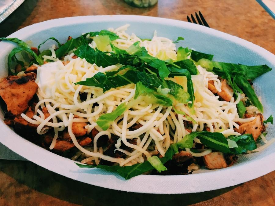As much as I love Chipotle, what I put in my bowl isnt always the healthiest. Lately, ive been adding healthier ingredients into my bowl, and I still love it! - Maddie Matesich