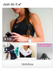 Gabi Vivero finds it very helpful to have a pinterest board with loads of ideas for working out!