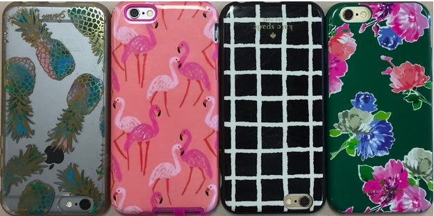 Academy girls love their bright patterned cases for their phones!