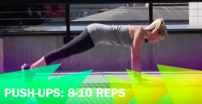 A pushup can burn a single calorie