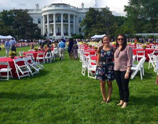With Julia Lester and senior here at Academy also  Jolene's youngest sister ,at the 2015 White House Summer Event.
